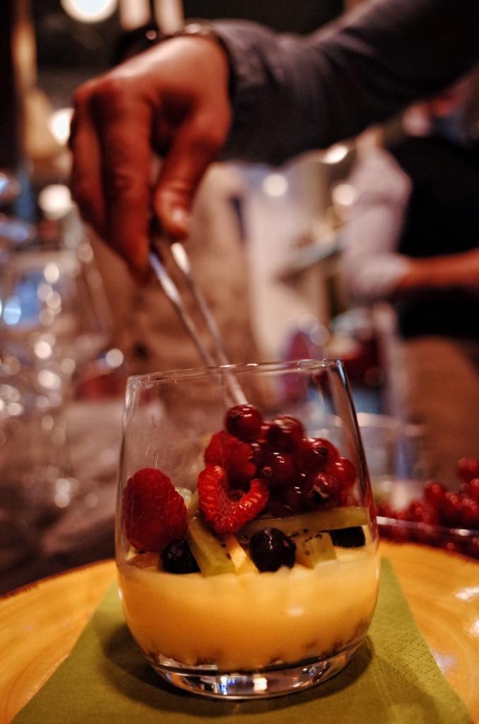 Crostata di frutta al bicchiere
